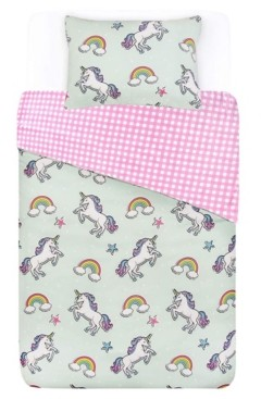 Tadpoles Unicorn Comforter with Removable Cover Toddler Size 3 Piece Bedding Set Bedding