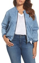 Lucky Brand Plus Size Women's Denim Bomber Jacket