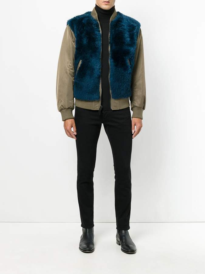 Yves Salomon reversible bomber jacket