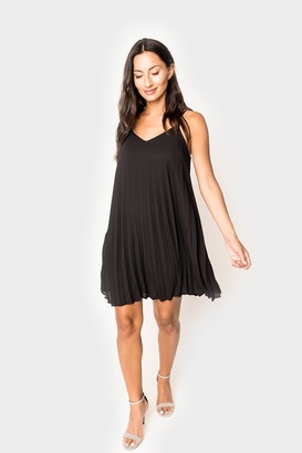 Gibson Almost Ready Pleated Mini Dress