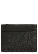 AllSaints Women's Kita Pebbled Leather Card Case - Black