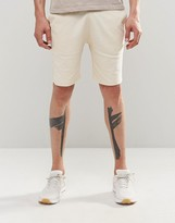 Asos Jersey Shorts In Beige