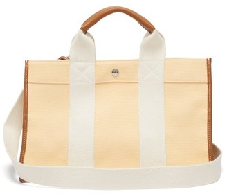 Rue De Verneuil - Traveller M Leather-trimmed Canvas Bag - Womens - Yellow Multi