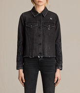 AllSaints Philly Embroidered Denim Jacket