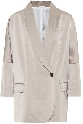 Brunello Cucinelli Exclusive to Mytheresa Satin blazer
