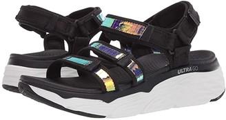Skechers Performance Max Cushioning (Black/White) Women's Sandals