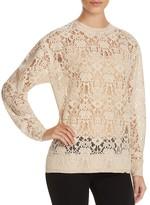 DKNY Velvet Lace Pullover