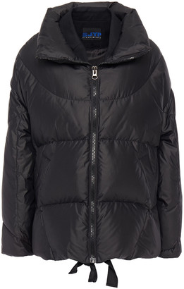Sjyp Quilted Shell And Twill Down Jacket