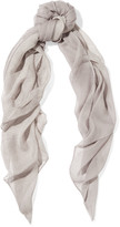 Halston Snake-print silk scarf