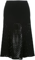 Kenzo lace hole midi skirt - women - Polyester/Viscose - S