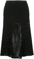Kenzo lace hole midi skirt - women - Polyester/Viscose - XS