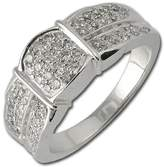 TriJewels Diamond Anniversary Ring 0.50 ct tw in 14K White Gold.size 6.5