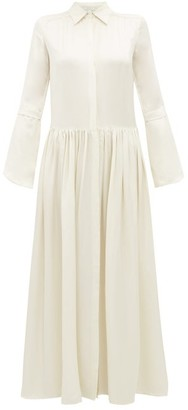story. White Lucy Satin Maxi Dress - Womens - Ivory