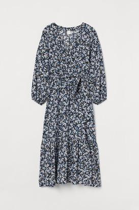 H&M Long Wrap Dress - Black