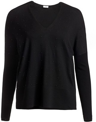 Akris Punto Studded V-Neck Sweater