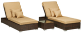 Lexis Sunlounger Set with End Table (3 PC)