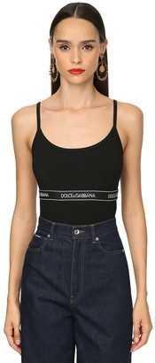 Dolce & Gabbana Logo Band Cotton Jersey Camisole Top