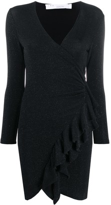 IRO Flounce Wrap-Front Dress