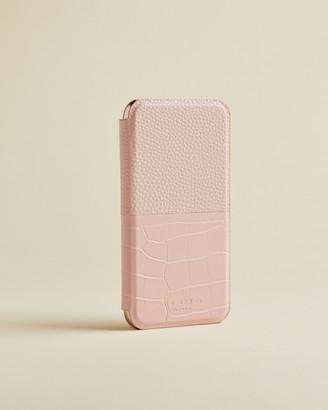 Ted Baker ELLVIRA Croc detail iPhone 11 book case