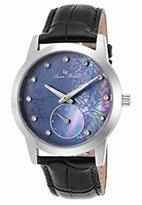 Swiss Legend Women's 'Noureddine' Quartz Stainless Steel and Black Leather Casual Watch (Model: LP-40037-01MOP)
