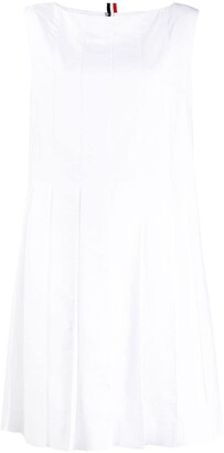 Thom Browne Above-Knee Oxford Pleated Dress