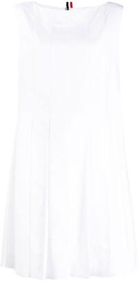 Thom Browne Above-Knee Oxford Pleated Dress