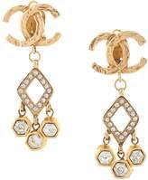 Chanel Pre Owned CC chandelier earrings