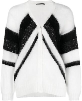 Alberta Ferretti two tone knit jumper