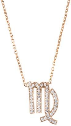Latelita Zodiac Star Sign Pendant Necklace Rose Gold Virgo