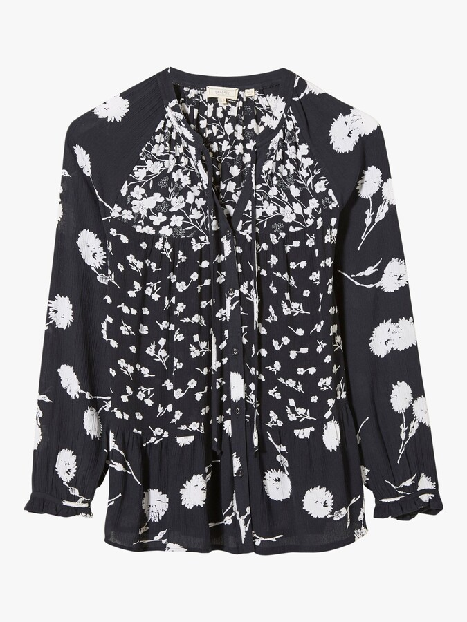 Thumbnail for your product : Fat Face FatFace Monroe Poppy Floral Top, Black/White