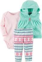 Carter's Baby Girl Hooded Fleece Vest