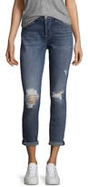 7 For All Mankind Josefina Squiggle Cotton Boyfriend Jeans