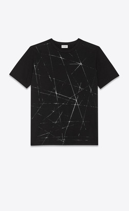 Saint Laurent T-shirt And Jersey Beam Print T-shirt Black L