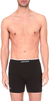 Lacoste Branded pack of two stretch-cotton trunks