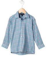 Oscar de la Renta Boys' Plaid Button-Up Shirt w/ Tags