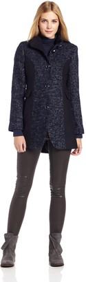 Kensie Women's Wool Color Block Coat