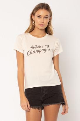 Amuse Society Champagne T Shirt - S . | cotton | off white - Off white