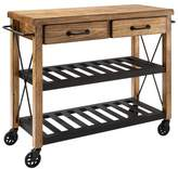 Crosley Roots Rack Industrial Kitchen Cart Wood/Natural