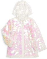Urban Republic Girl's Sequin Rain Jacket