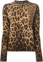 Dolce & Gabbana leopard intarsia sweater