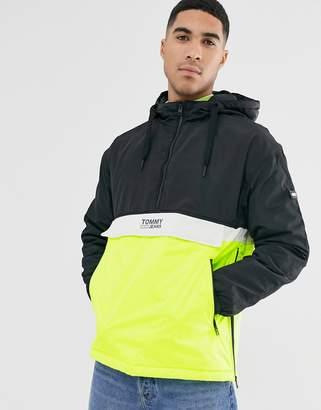 Tommy Jeans colour block popover jacket-Black