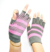 Imixcity BallyLady Unisex Yoga Fingerless Pure Cotton Non Slip Gloves