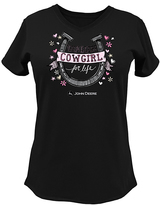 John Deere Black 'Cowgirl for Life' V-Neck Tee - Plus Too