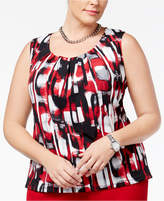 Kasper Plus Size Pleated Shell