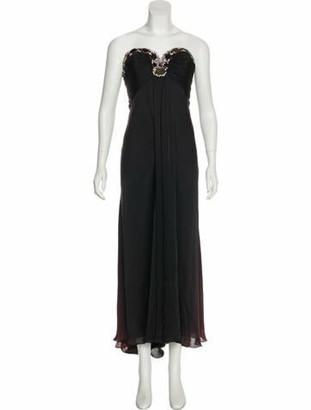 Naeem Khan Embellished Evening Dress Black