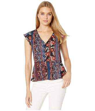 Sanctuary Over The Moon Peplum Shell (Collage) Women's Clothing