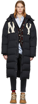 Gucci Black NY Yankees Edition Down Puffer Coat