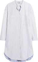 Acne Studios Esloane Pinstriped Cotton-piqué Shirt Dress - Sky blue