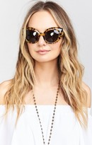MUMU Crap Eyewear ~ The Diamond Brunch ~ Gloss Jungle Tortoise with Grey Lenses