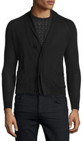 CNC Costume National Button-Front Knit Cardigan, Black